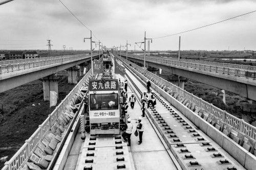 安九高鐵湖北段開始鋪軌