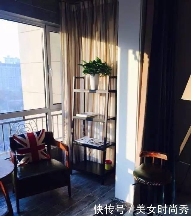 隔断|头一次见客厅和阳台打通隔断这样设计