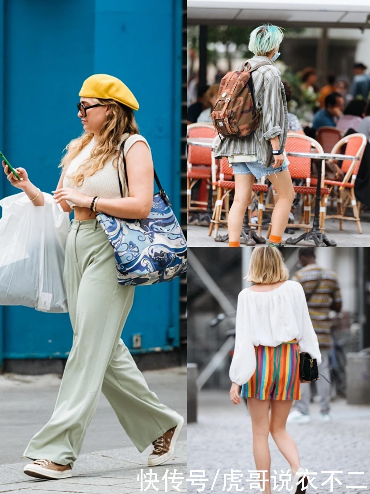 """太真實的巴黎路人街拍,沒有""""大紅唇+高跟鞋"""",個矮腿粗也時髦"""