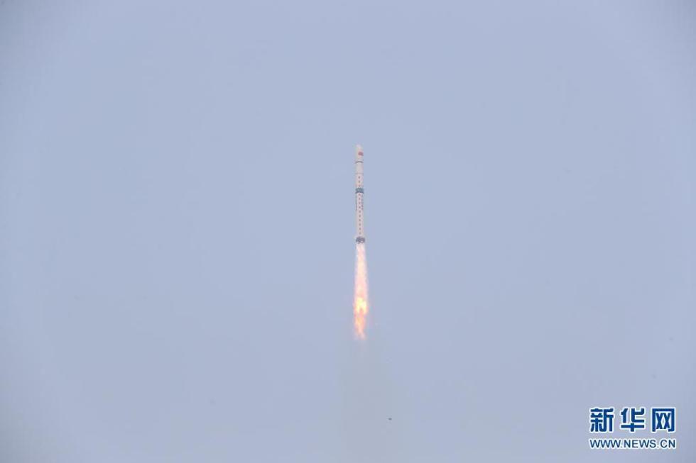 我國在太原衛星發射中心成功發射試驗六號03星
