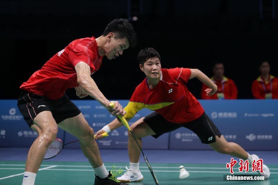 全运会羽毛球混双决赛:王懿律,黄东萍夺冠
