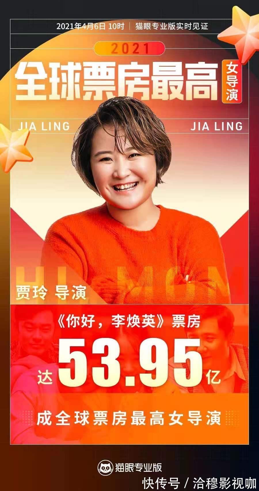 你好李焕英|贾玲成全球票房最高女导演,你好李焕英53.95亿,超神奇女侠