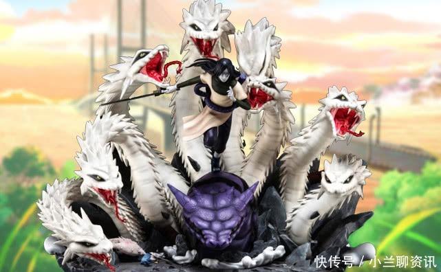 通灵兽|火影大蛇丸与八岐大蛇的手办,蛇鳞就值1万,仍不及中间的万蛇