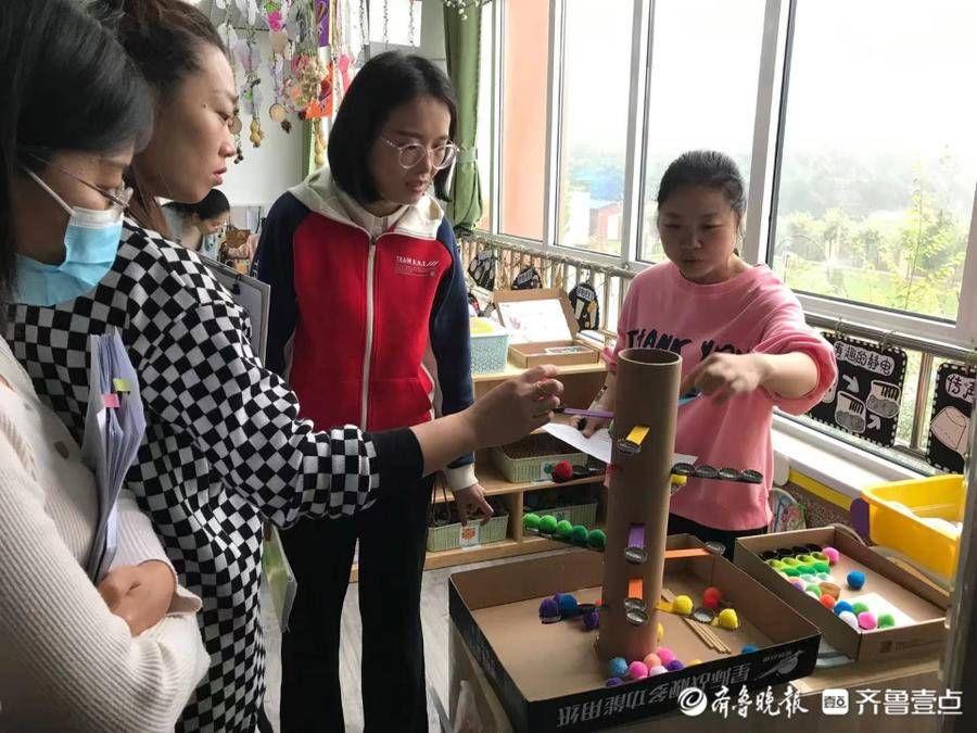 广饶县稻庄镇镇直幼儿园开展室内区域环境创设评比活动