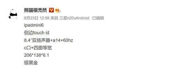 芯片|苹果iPad mini 6配置曝光,搭载A14芯片 9月发布