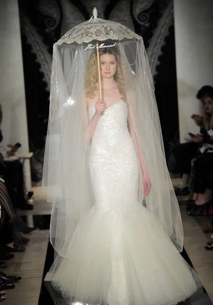 如今新娘頭紗太會玩了這幾種一般人都沒見過,最後一款美得出奇