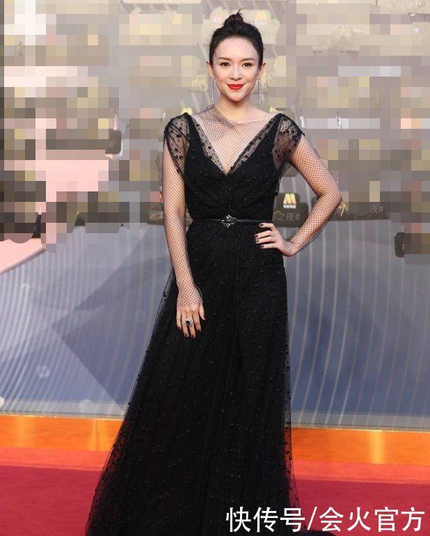 章子怡自曝體重僅98斤!一身漁網深V裙秀身材,紅毯出場性感優雅