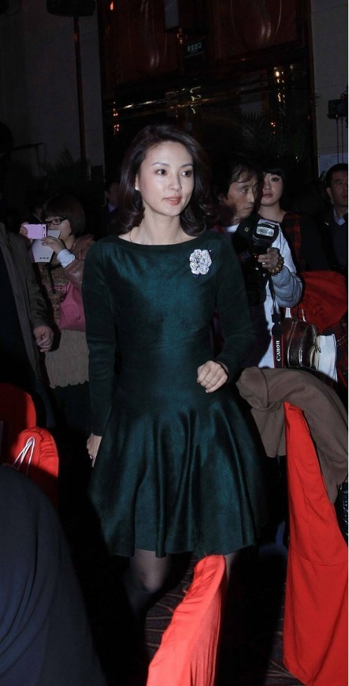 劉芳菲真是才貌雙全, 穿連衣裙配褲襪氣質好, 難怪能當央視主持人