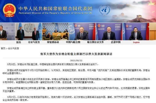 安理會全體成員協商一致發表