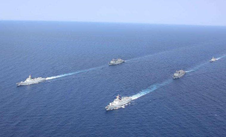 海軍第37、38批護航編隊在亞丁灣分航