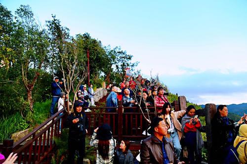 元阳坝达梯田景区,最佳日落观景点,可惜运气差了一点点