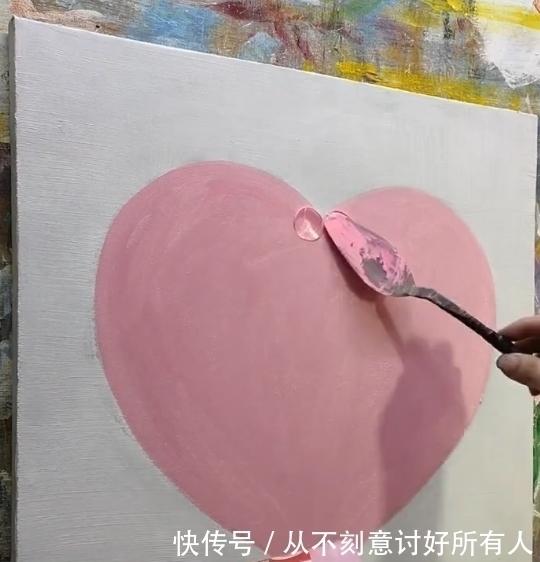 美术生画爱心,被吐槽太简单了,看到白色后:这大佬,惹不起