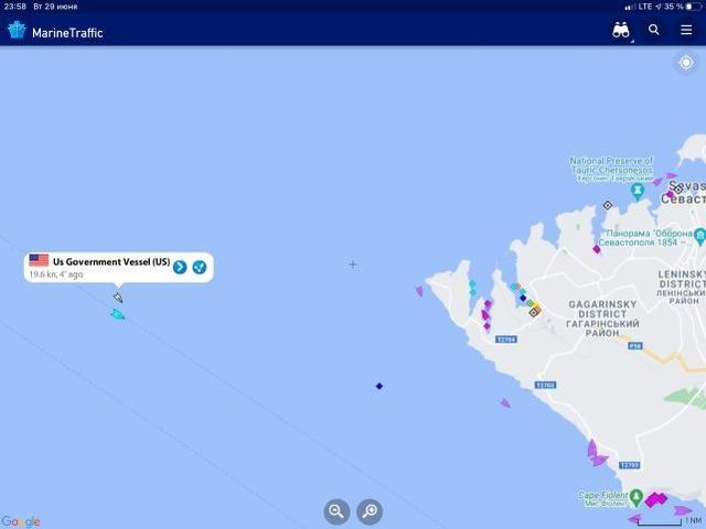 美艦比英艦更深入克裡米亞水域?實時監控證明美艦航跡信息造假