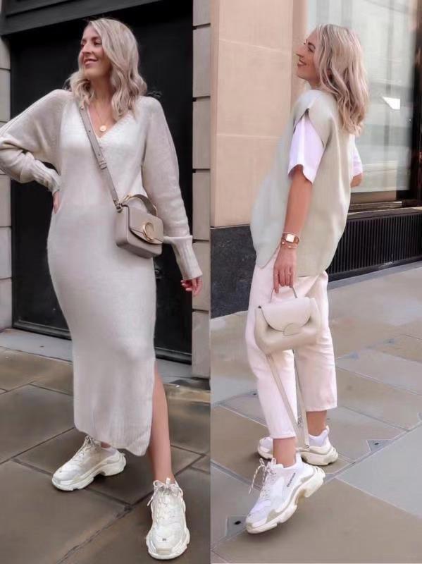 簡單的基礎色穿搭也可以很好看,簡約又不失設計感,美得高級時髦
