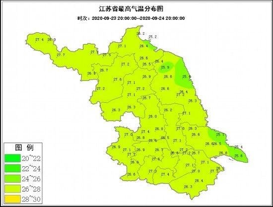 江苏好天气开启 25日沿淮淮北部分地区有浓雾