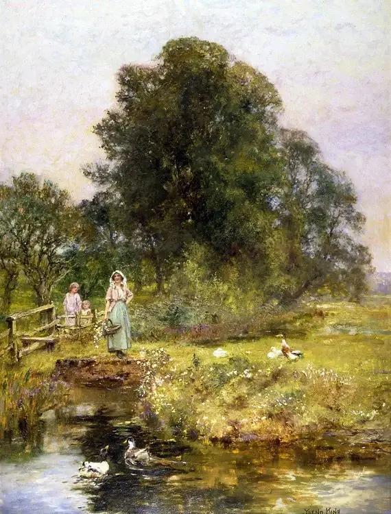田园|美到脱俗的田园风景油画,甜美!