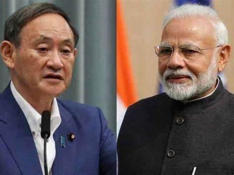 最后几天任期,日本首相菅义伟与印度总理莫迪会面,称应遏制中国