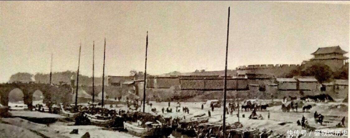 保定老照片:南关码头府河风光和南河坡亚细亚洋油公司旧址