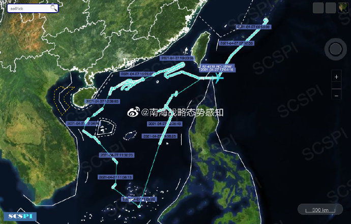南海戰略態勢感知:美軍機在南海高強度偵察,多機型出動
