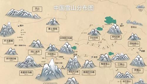 中国境内最全雪山分布图,盘点最值得去的雪山!