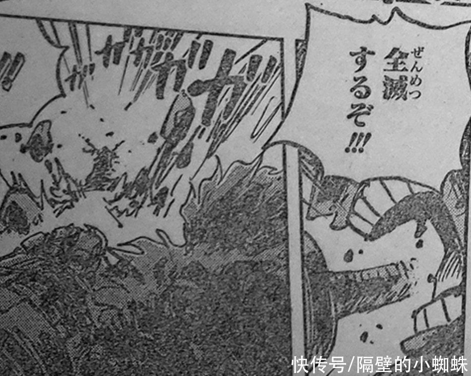 海贼王1009话,尾田是索隆吹实锤!索隆挡下大招后,就吐了血