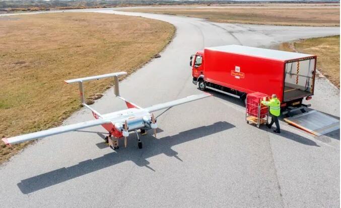 英國郵政測試無人機送件 未來承擔偏遠島嶼快遞運輸任務