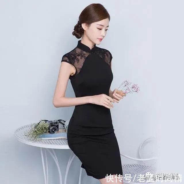 一款改良旗袍裙,穿出瞭復古典雅的美感,勾勒出女人的優美曲線