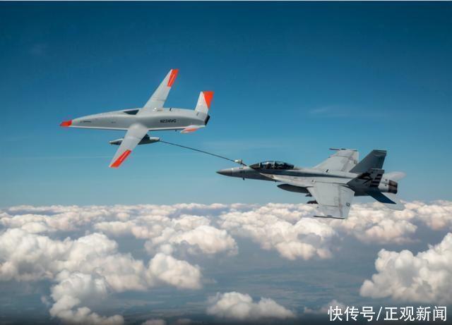 永久續航?美國首次用加油無人機為戰鬥機空中加油