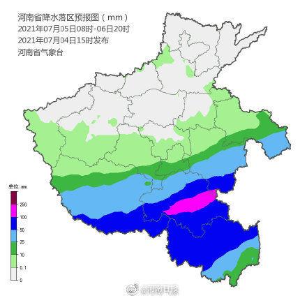 5日到8日河南中南部進入降水集中時段