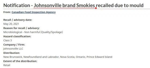 加拿大Costco熱賣的椰子片和香腸被緊急召回