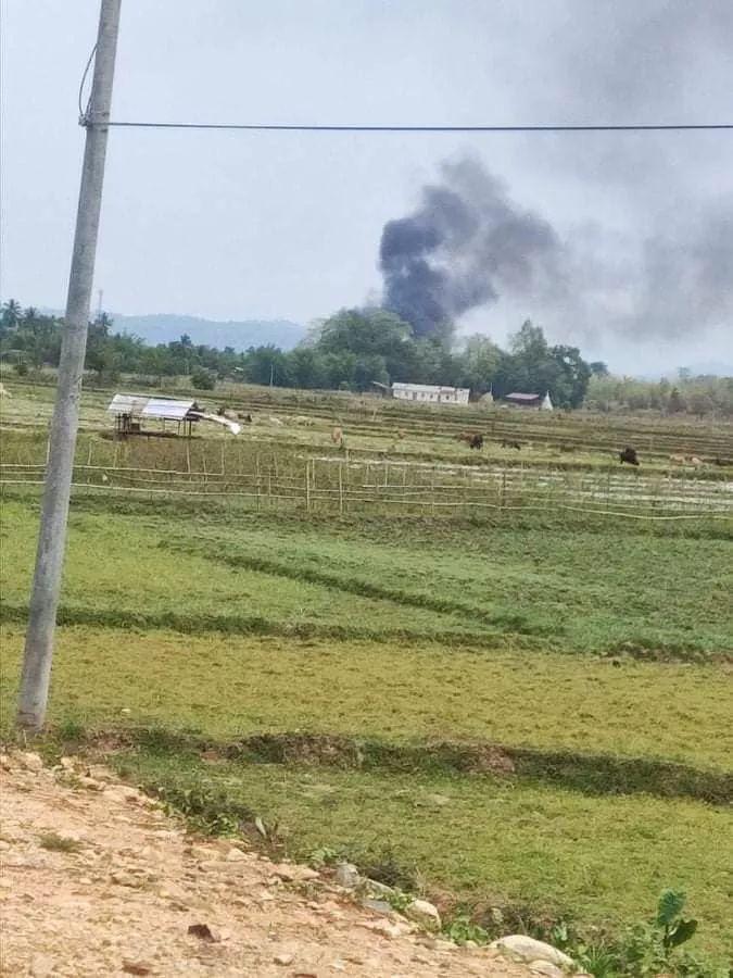 緬甸國防軍一直升機被緬甸民族地方武裝組織擊落