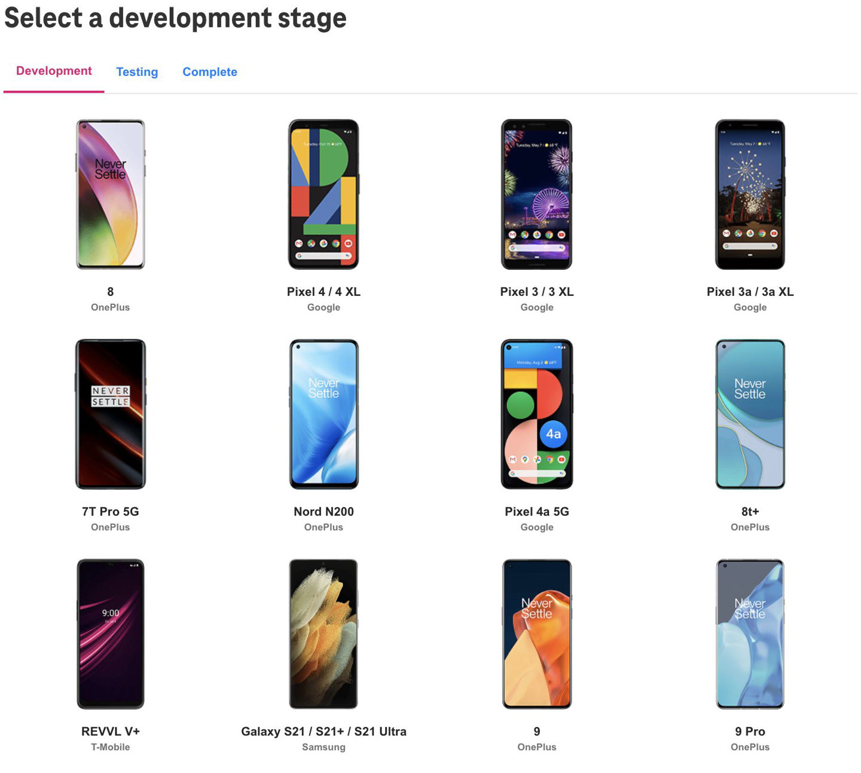 列表|T-Mobile 公布可升级至 Android 12 的机型列表:Pixel 3 等型号