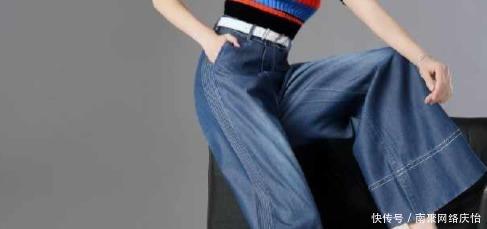 酷感十足的牛仔阔腿裤,160女生也能穿出大气场