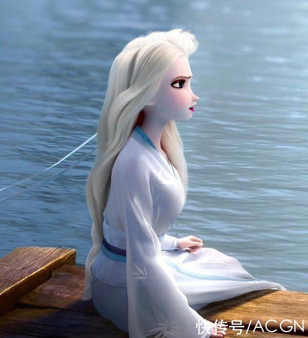 艾莎女王又換衣服啦,漢服、和服、韓服、旗袍都給她安排上瞭