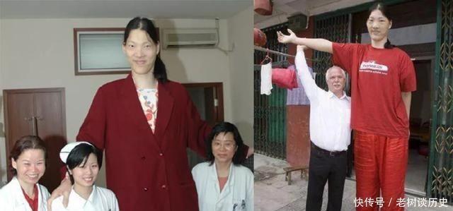 世界第一女巨人,比姚明高半個頭,一頓吃半鍋米飯,穿78碼鞋子