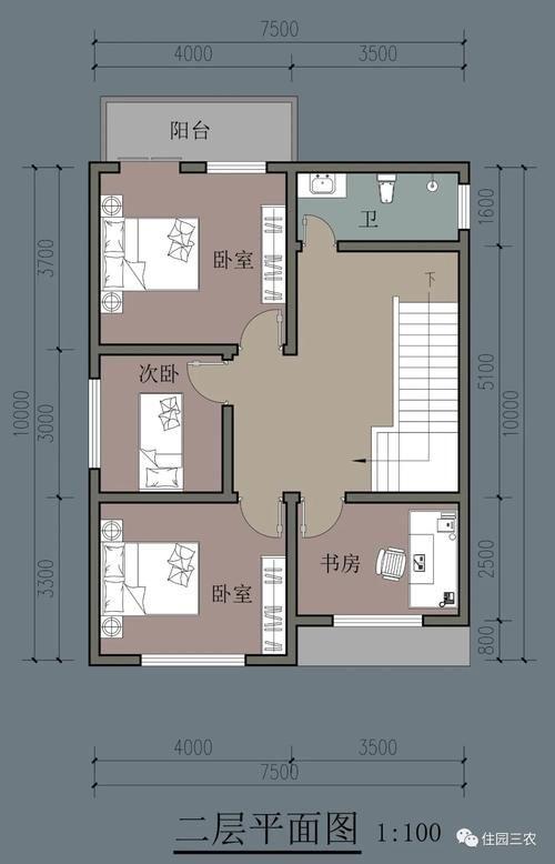 茶室 占地70多平米,3室1厅还有书房茶室,这栋农村二层小别墅让人欢喜