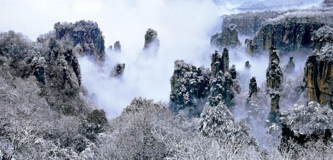 故宫|都在刷故宫雪景,我们一起看看张家界的雪景有多美