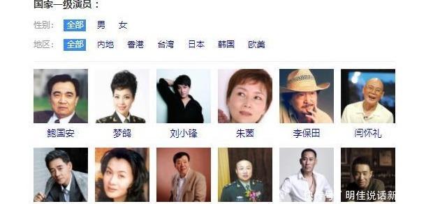 国家一级演员名单中,未有一名流量明星,周星驰上榜
