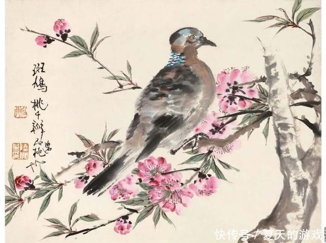 「津门网」江苏画家绘画一般很细腻,他的花鸟画却收能放别开生面