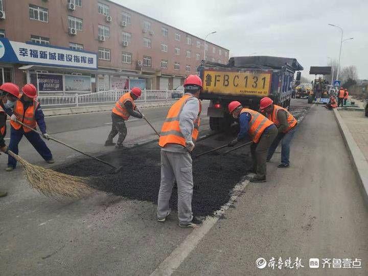 加班加點快速推進,煙臺市管道路首遍全面維修預計五月中旬完成