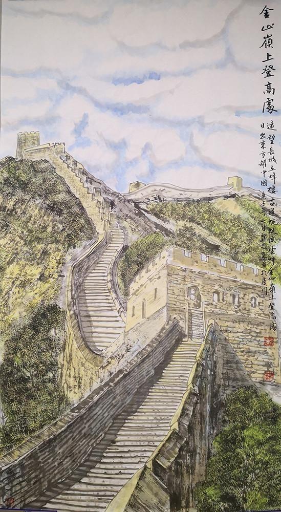 山水画|诗意的山水—浅析著名画家魏思东国画山水