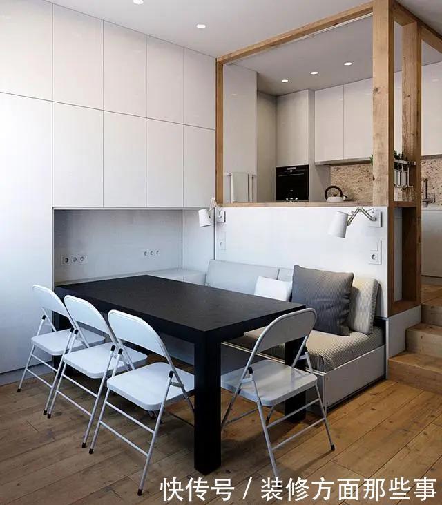 姐姐家|35平单身公寓,家里太小就把床藏到柜子里,果然方便又显宽敞!