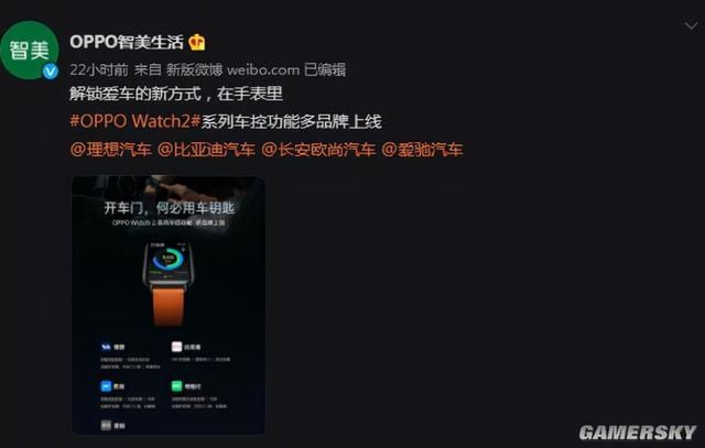 dx3|OPPO Watch2上线车控功能 支持特斯拉等多品牌