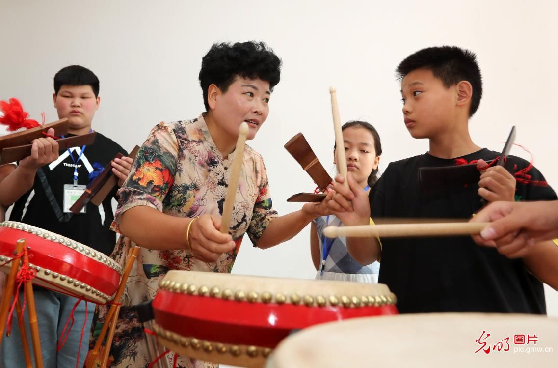 安徽蒙城:免费学传统文化 开心度暑假