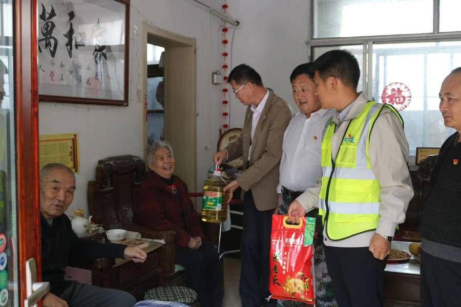 慰问 中建一局在泰项目联合赤脸店社区慰问社区高龄老人
