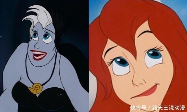 当然迪士尼公主和反派换脸,毫无违和感,正反派全靠一张脸